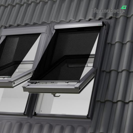 Fekete Külső hővédő roló  DAKEA / DAKSTRA / ROOFLITE  tetőablakra