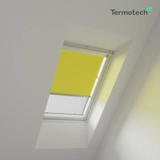 Sárga Árnyékoló roló VELUX tetőablakra