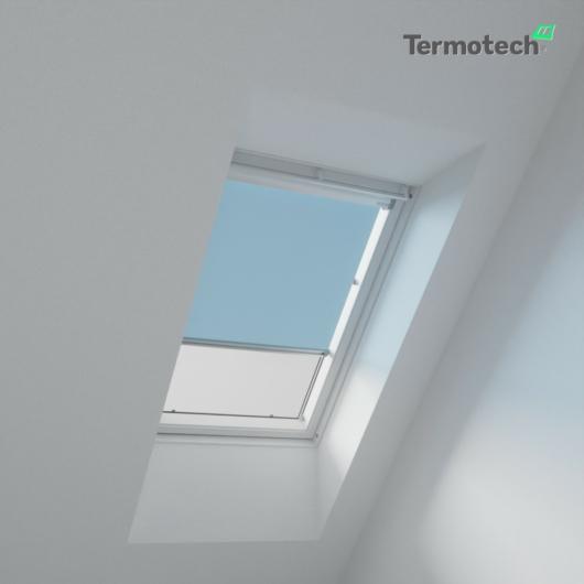 Világos kék Árnyékoló roló BALIO / SOLIS tetőablakra