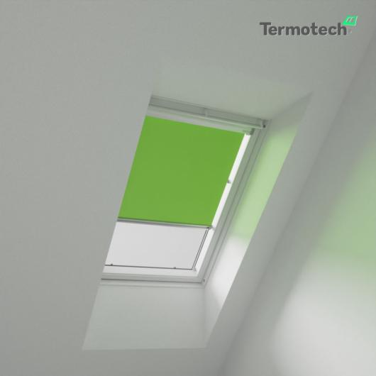 Zöld Árnyékoló roló VELUX tetőablakra