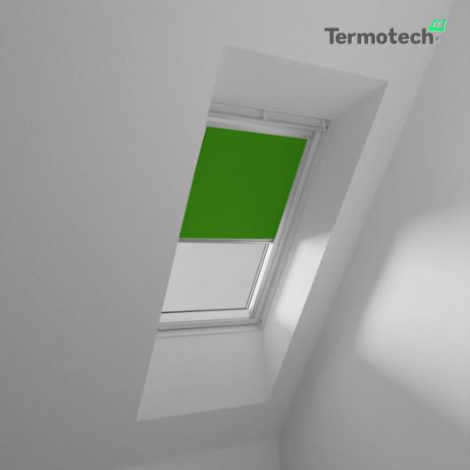 Zöld Fényzáró roló VELUX tetőablakra