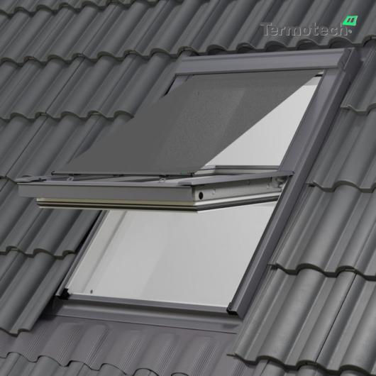 Szürke Külső hővédő roló VELUX tetőablakra